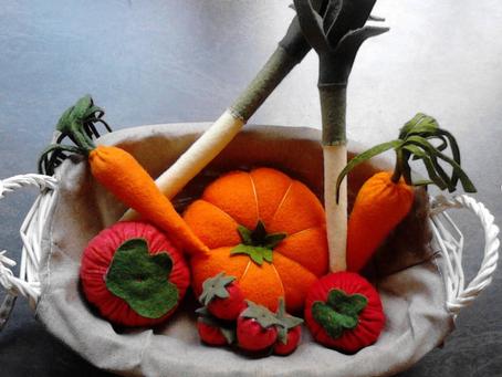 Des fruits et légumes en feutrine à croquer