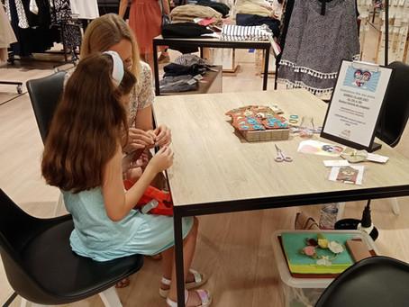 Grands succès pour les ateliers de couture enfants aux galeries Lafayette à Pau