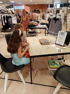 animation Atelier couture enfant centre commercial