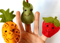 Marionnette fruits en feutrine