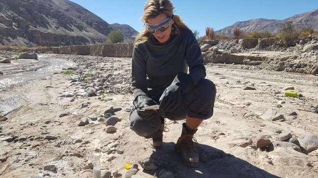 The nearly dried-up Atacama River basin is lethally poisonous with arsenic