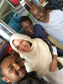 With new friends in Addis Ababa