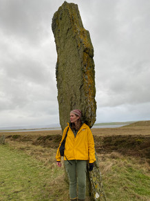 Neolithic standing stone, Orkney Islands
