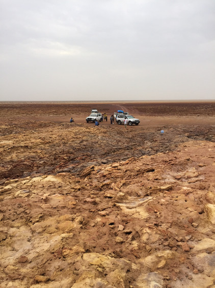 End of the road in the Afar Triangle