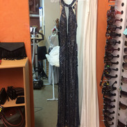 Julie from Rockville Centre in a Scala gown