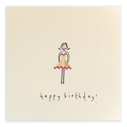 Birthday Girl Pencil Shavings Card