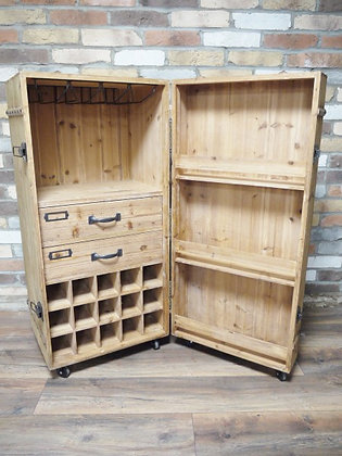 Wooden bar / wine cabinet