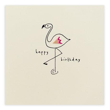 Birthday Flamingo Pencil Shavings Card