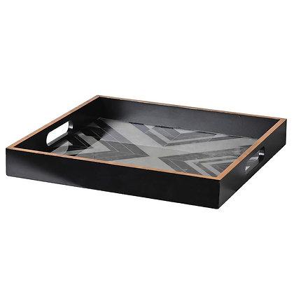 Black & White Marble Deco Tray