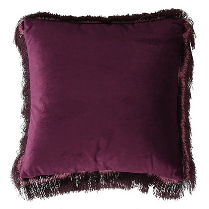 Purple Fringe Edge Cushion