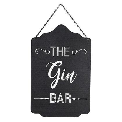 The Gin Bar Metal Sign