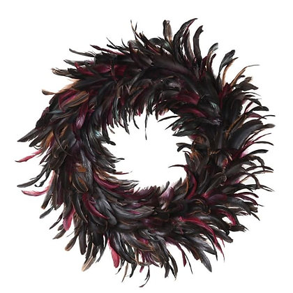 Coloured Feather Wreath
