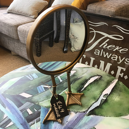 Bird legged gold mirror