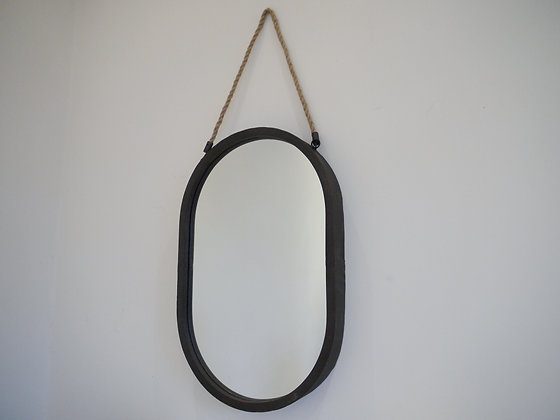 Rustic metal mirror