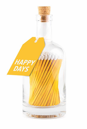 Yellow Happy Days Matches Bottle