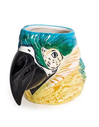 Ceramic Blue Parrot Vase