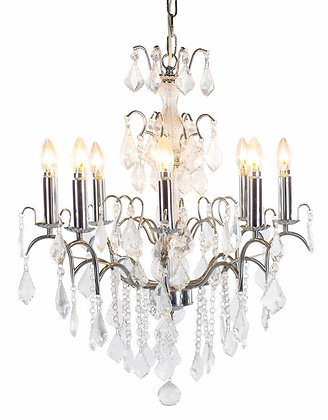 Chrome 8 Branch French Chandelier ( avaliable to order ) please call shop direct