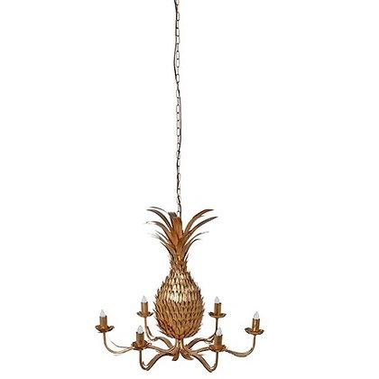 Golden Pineapple Chandelier