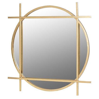 Gold square art deco mirror