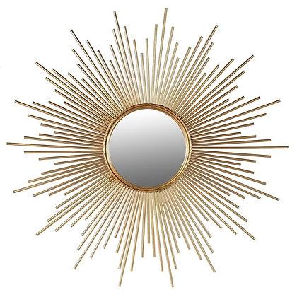 Shaped Sunburst Mirror