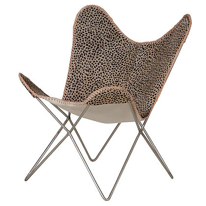 leopard print iron chair COLLECTION ONLY