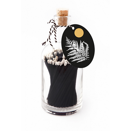 Black fern matches bottle