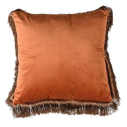 Orange Fringe Edge Cushion