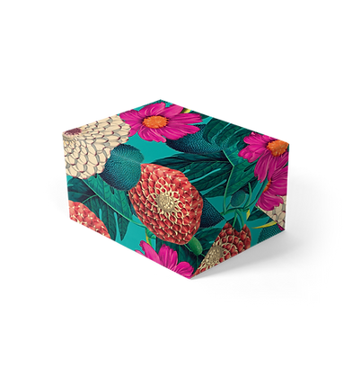 Exotic Floral Gift Wrap
