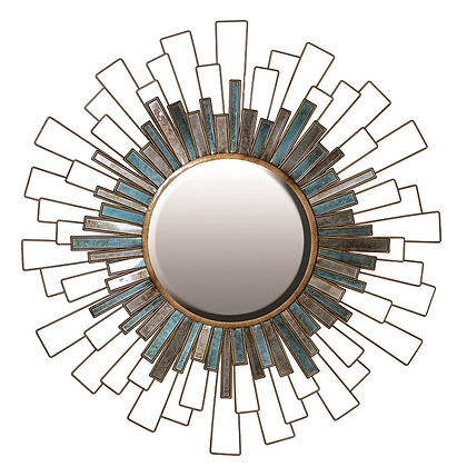 Round gold and green mirror ( avaliable to order ) please call shop direct