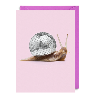 Disco Snail Card