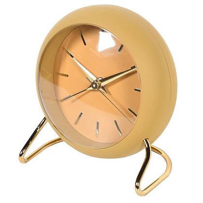 Retro Mustard Yellow Alarm Clock