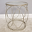 Thumbnail: Silver wire side table W glass top
