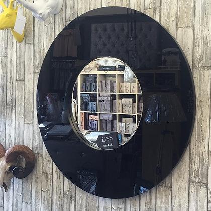 Black circle mirror