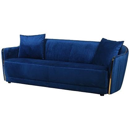 Sapphire blue velvet sofa