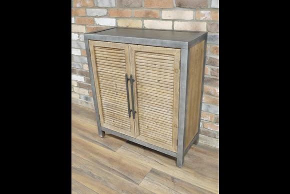 Industrial Metal & Wood Cabinet
