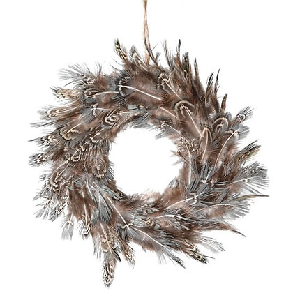 Stripe Feather Mini Wreath tree hanging decoration