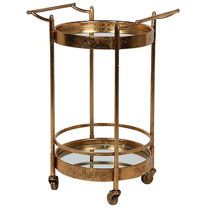Stylish Gold/Mirror Trolley
