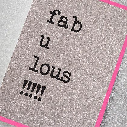 Fab U Lous! Glitter Card