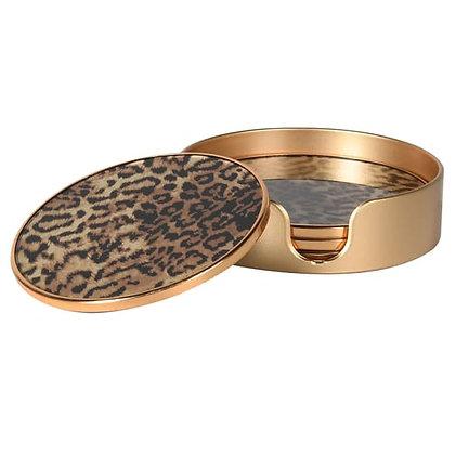 Set 4 Leopard Print Coasters