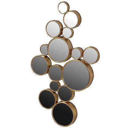 Gold art deco circles mirror