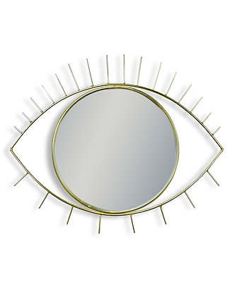 Metallic Gold Eye Wall Mirror