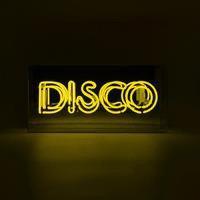 DISCO neon sign yellow