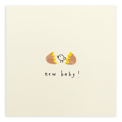 New Baby Egg Pencil Shavings Card