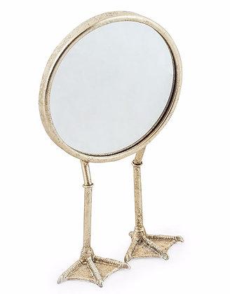 Silver Bird Legged Table Mirror