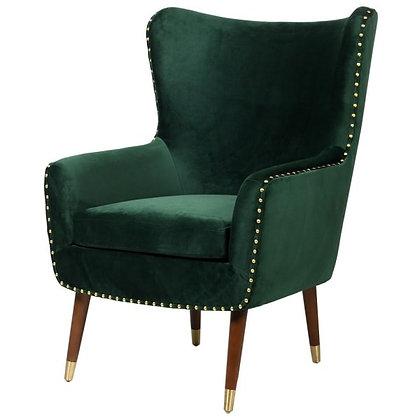 Bottle Green Velvet Armchair