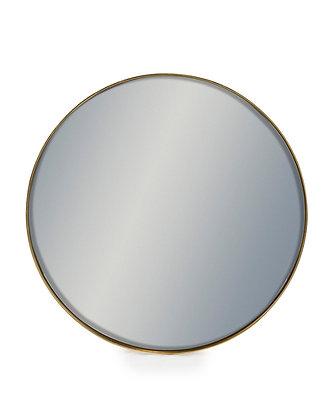 Medium Round Gold Framed Mirror