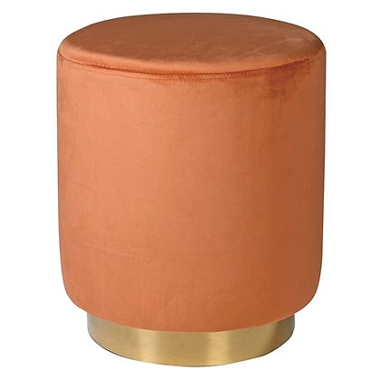 Orange and Gold Footstool