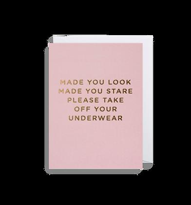 Made You Look Mini Card