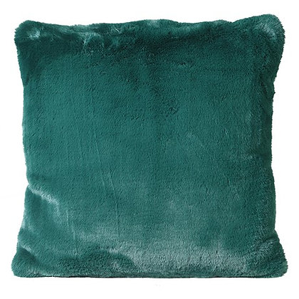Bottle Green Faux Fur Cushion