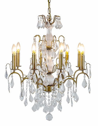 Large Gold 8 Branch French Chandelier ( available to order ) contact shop direct